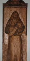 Holy familly by woodcarver