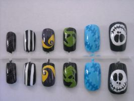 The Nightmare Before Christmas Nail Art by OMG-itz-J3551K4