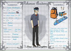PA: Dax Wethington 1st Year App by The-Solo-Hero