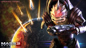 Mass Effect Wallpaper - Urdnot Wrex by razor-rebus