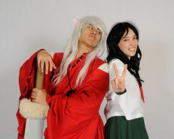 Inu Yasha and Kagome by VampirePete