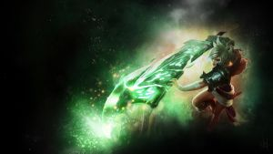 Riven - The Exile Wallpaper (League of Legends) by cruxae