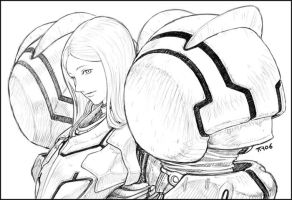 Samus Aran sketch 02 by torokun