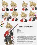 Len Kagamine - Character Sheet by Cleopatrawolf