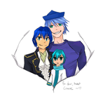 Conaxe, Dharac and Kaito by dgmonmaster