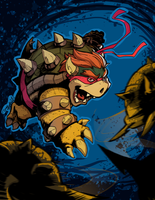 Teenage Mutant Ninja Bowser by DrummerboyDomo