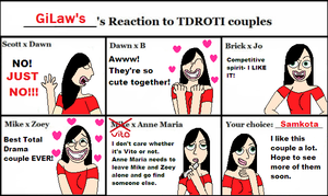 My Reaction to TDROTI Couples by GiLaw77