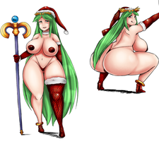 hot  Palutena for a warm xmas! :D by tisinrei