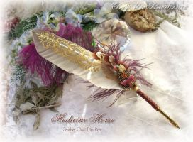 MEDICINE HORSE Quill Pen A by ChaeyAhne