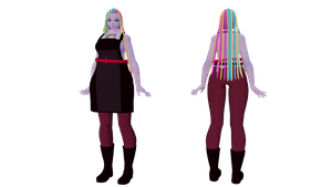 mmd Bismuth DL by knuclesfan4556