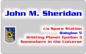 Business Card J. M. Sheridan by CmdrKerner