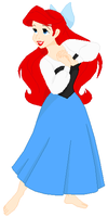 Disney's Ariel Without Shoes by ChipmunkRaccoon2