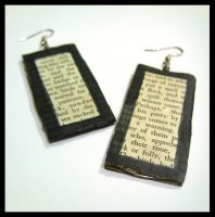 Text Earrings by RainbowCrowCat