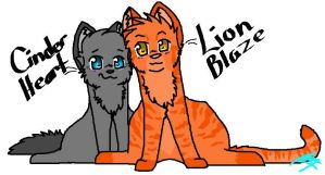 Cinderheart and Lionblaze by CinderIzAwesome