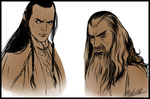 Elrond and Mithrandir by MellorianJ