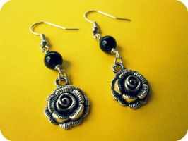 Bead of Roses Earrings by xcup-cakex