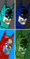 Batman four panel comic print popart returns by TheGreatDevin