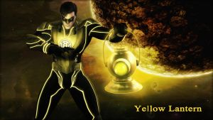Yellow Lantern Wallpaper by BatmanInc