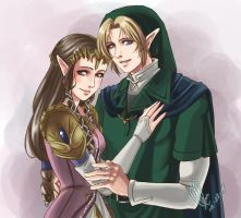 ZeLink - Commission - elfofcourage by Nardhwen
