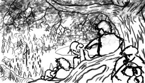 WIP: Sketch for Midsummer Art Contest by Callego
