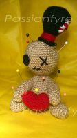 Amigurumi Voodoo Doll Pin Cushion by passionfyre