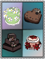 Vector Cakes - version 1 by wulfiesacolyte
