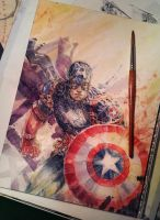 Captain America - Work in Progress. by dreamflux1