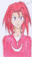 Human Knuckles the Echidna by AllieJenzie