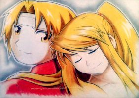 Edward and Winry - FullMetal Alchemist by devil-of-my-own