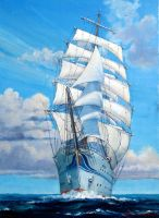 Sailing Ship -Blue Sky- by temma22