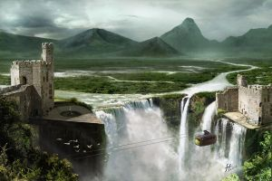 Waterfall matte paiting by fernandofaria