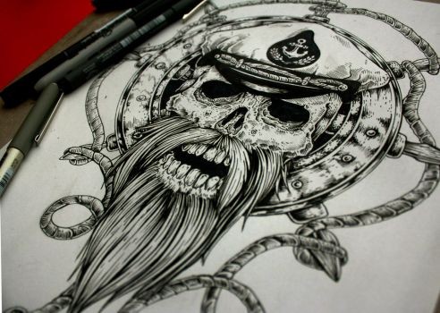 Sailor Tattoo Desing-Commission   ::SOLD::: by EG-TheFreak