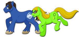 Ether Moon and Key Lime by khyterra