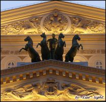 The Quadriga on the Bolshoi Theater by Esse-light