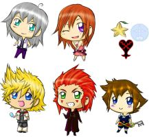 kingdom hearts chibi by Sajili