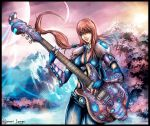 Space Girl and Guitar by Uryen