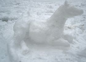 Snow Horsey by Cougar28