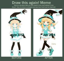 before and after meme + auction info by deaeru