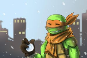 Mikey enjoys the snow by JayJayRey