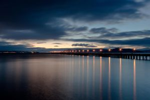 Bay at Night by Midwinters-twilight