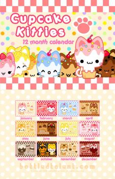 Cupcake Kitties Calendar by celesse