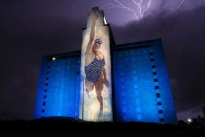 Building in Omaha During Storm by tbertz