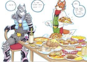 feeding time, mr wolf part 1 by prisonsuit-rabbitman