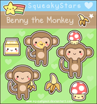Benny the monkey by SqueakyToybox