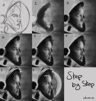 Step by Step astronaut portrait by DarkMoon-Z