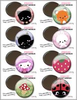 kyaaa.biz Pocket Mirrors by shiricki