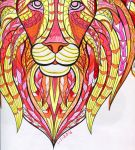 Lion - Blue Star Coloring Book by wintercool612
