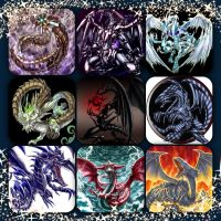 Yu-Gi-Oh! Dragons collage by Xendrak18