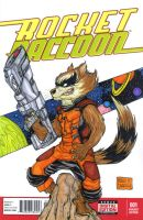 Rocket Raccoon sketch cover by mdavidct