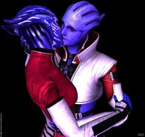 Tevos Aria close kiss by Servala